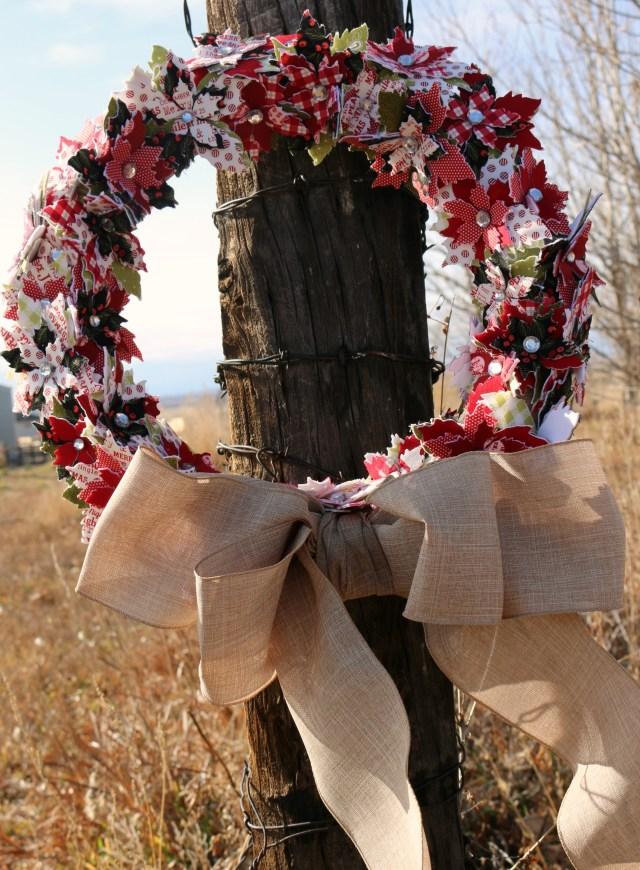 poinsettia wreath Amy Warner 1