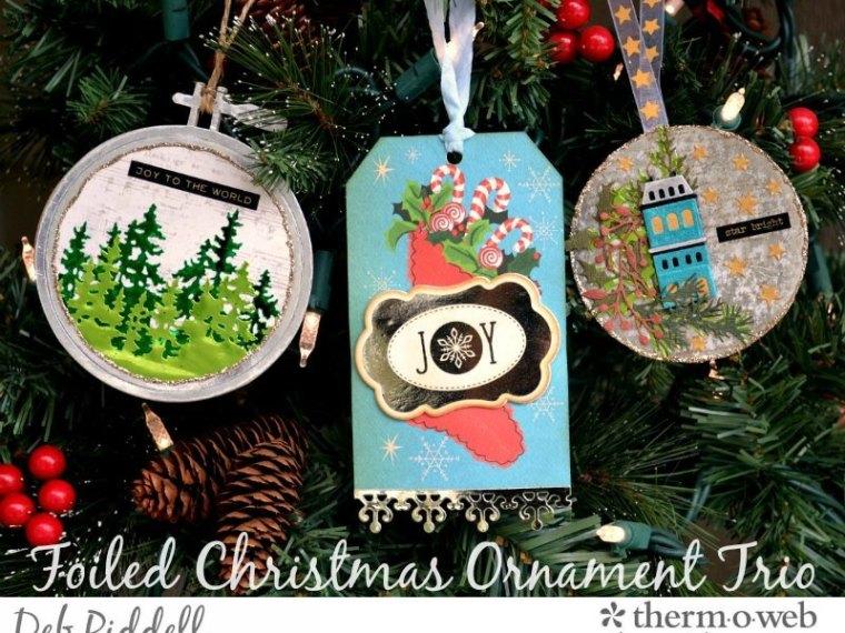 Deco Foil Christmas Ornament Trio