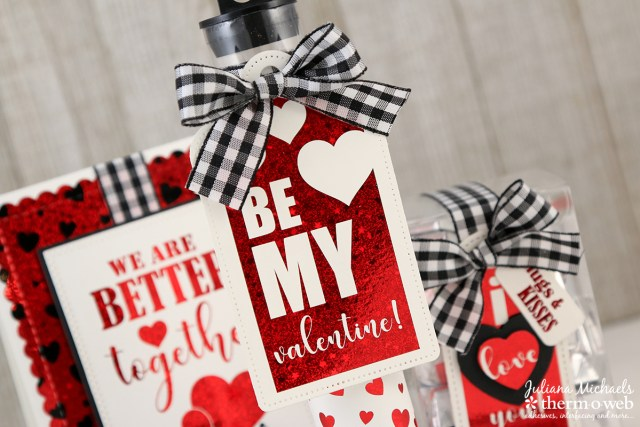 Valentines Day Card and Gift Set by Juliana Michaels featuring Therm O Web Adhesives and Gina K Designs Foil Mates and Fancy Foils