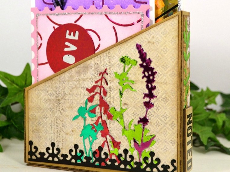 Deco Foil Notcard Holder and Notecards by Deb Riddell