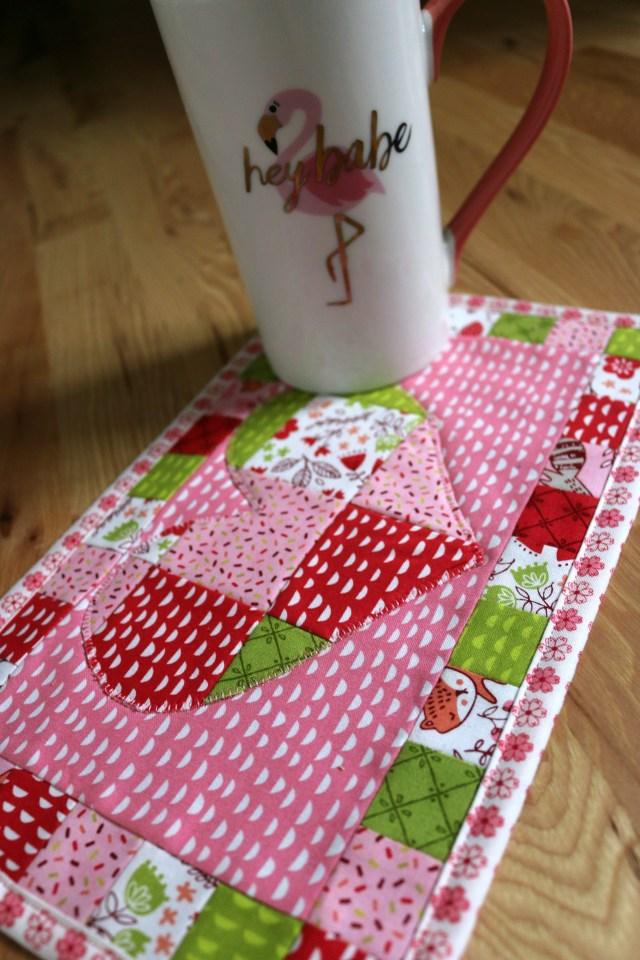 Patchwork Heart Mug Rug Amy Warner 1
