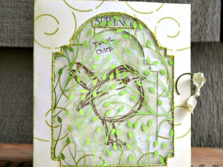 Happy Spring Mixed Media Deco Foil Card