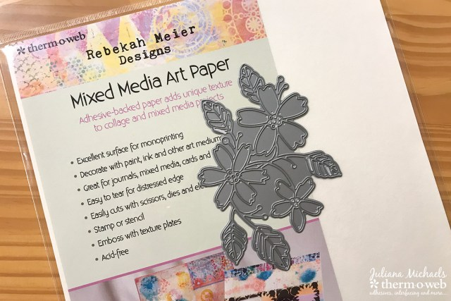 Mixed Media Easter Card Tutorial by Juliana Michaels featuring Therm O Web Rebekah Meier Mixed Media products