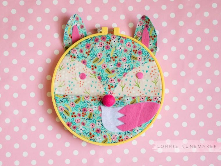 Foxy Embroidery Hoop Caddy with HeatnBond