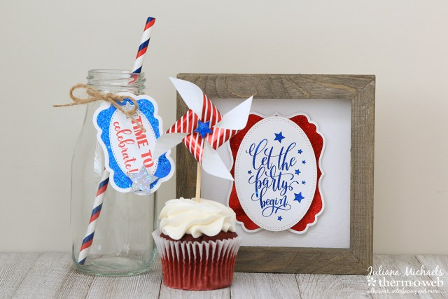Fourth of July Foiled Party Decor by Juliana Michaels featuring Therm O Web Gina K Designs Fancy Foils
