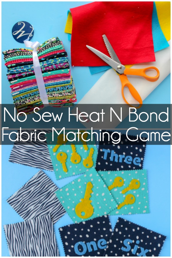 No Sew Heat N Bond Fabric Matching Game