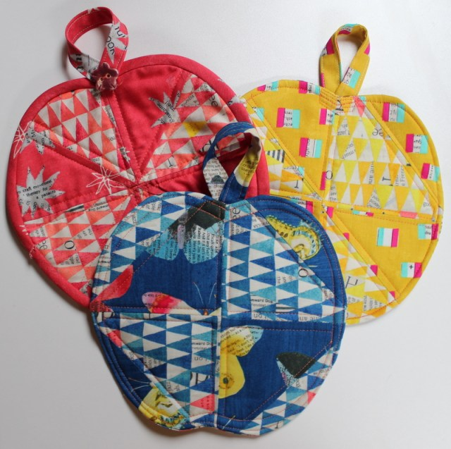 Collection of Apple Potholders by Kim Lapacek