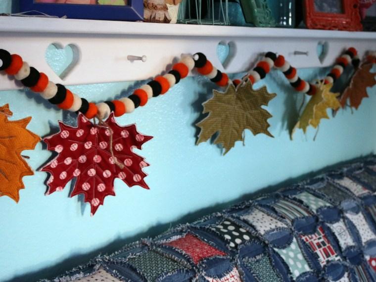 Create a Festive Fabric Leaf Garland for Fall with StitchnSew