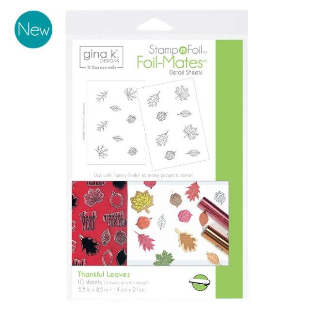 Gina K. Designs Foil-Mates - Thankful Leaves