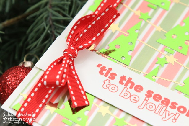 Tis The Season Christmas Card by Juliana Michaels featuring Therm O Web Deco Foil and Holiday Designer Toner Sheets