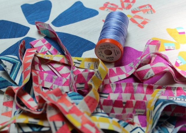 Add the Strips and quilt with aurifil