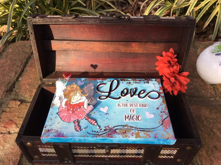 Love Canvas with Whimsy Stamps