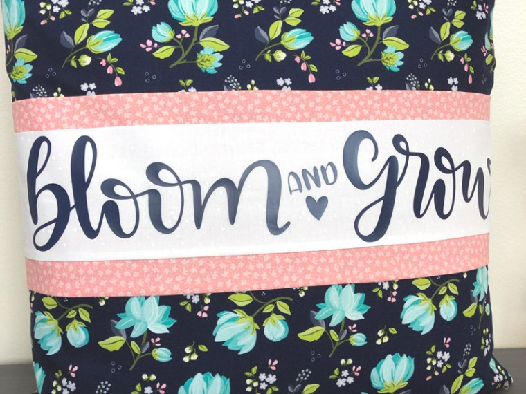 Bloom and Grow Banded Pillow