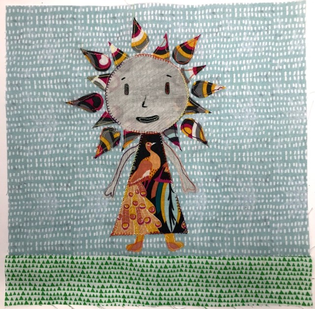 Flower Girl Quilt block by Kim Lapacek