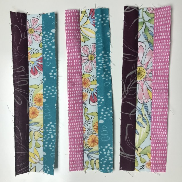 Strip Sets for Spring Sampler Quilt by Kim Lapacek