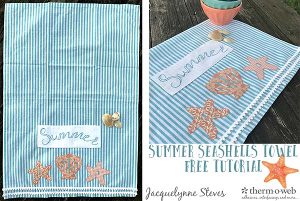 Summer Seashells Towel