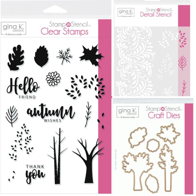 Gina K. Designs Autumn Wishes StampnStencil Collection