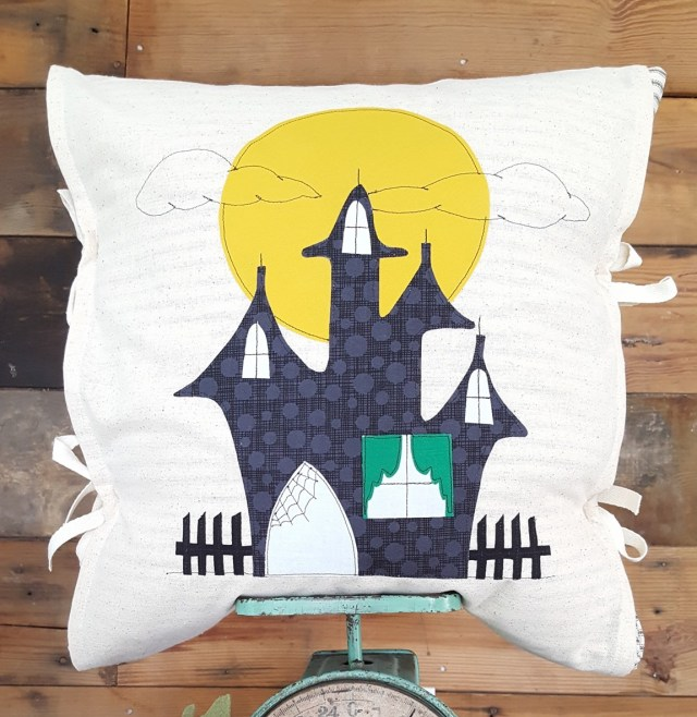 haunted House Halloween Pillow