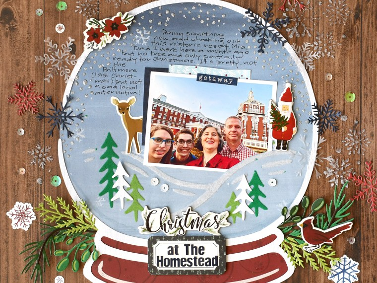 Snow Globe Scrapbook Layout