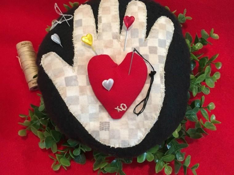 Heart in Hand Pincushion