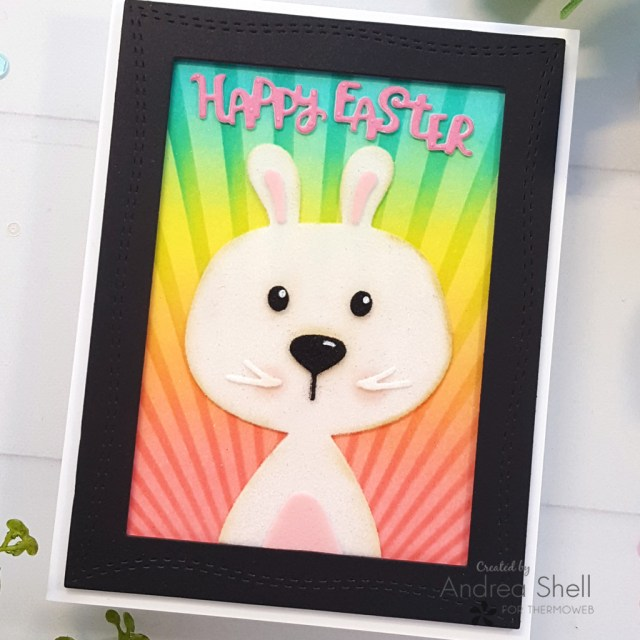 Flocked Easter Bunny Card by Andrea Shell