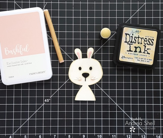 Flocked Bunny Easter Card by Andrea Shell