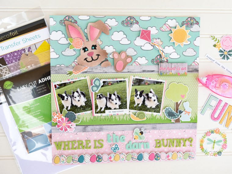 Easter Layout with Deco Foil Flock