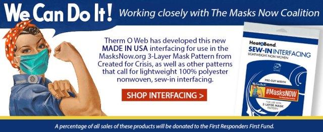 HeatnBond Interfacing for Fabric Masks