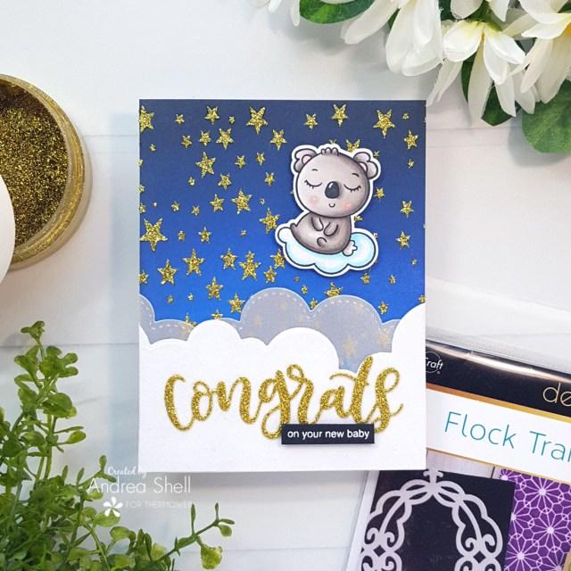 Congrats Baby Koala Card by Andrea Shell | Koala Cuteness stamp by Whimsy Stamps