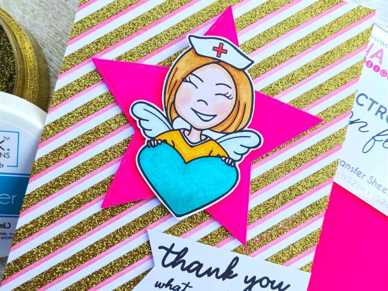 Show Thanks Card with Glitz and Flock