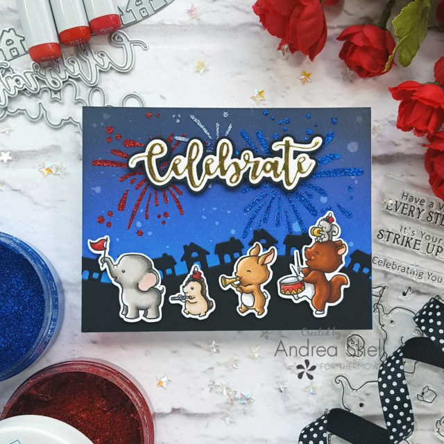 Animal Parade Card by Andrea Shell   Strike Up the Band stamp by Sugar Pea Designs
