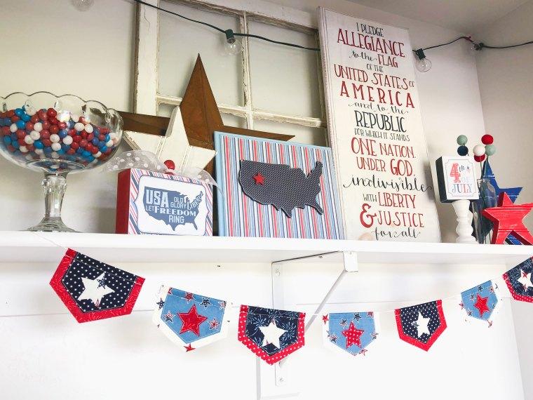 Patriotic Fabric Banner