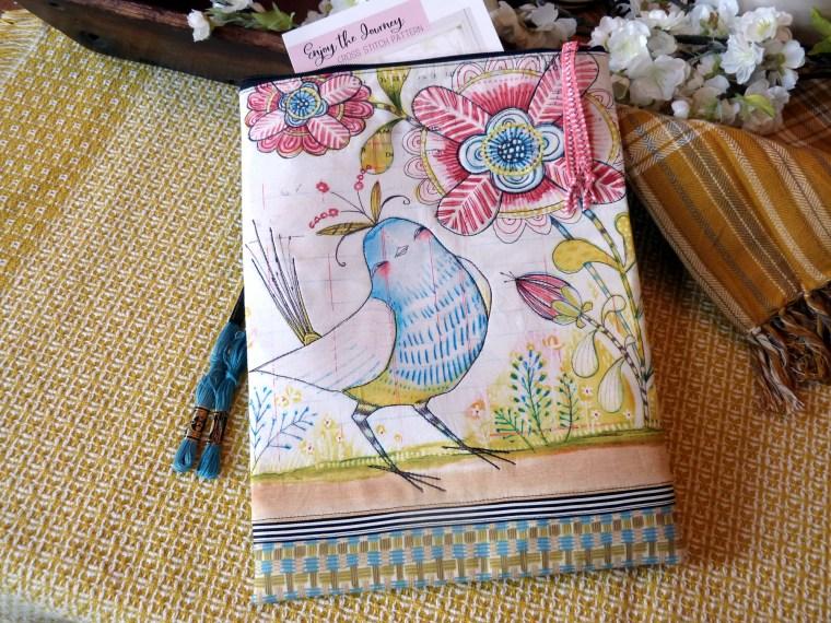 Winged Things Fabric Zipper Bag