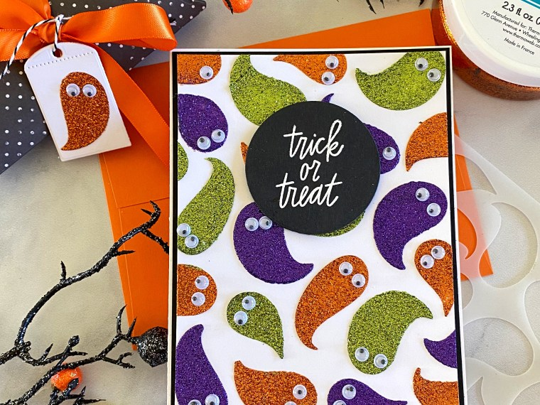 Halloween Card with Glitz Glitter Gel