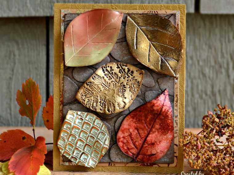 Mixed Leaves Fall Home Decor with Sculpey