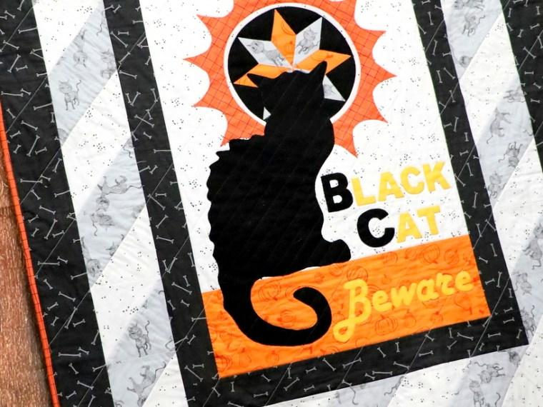 Black Cat Halloween Quilt