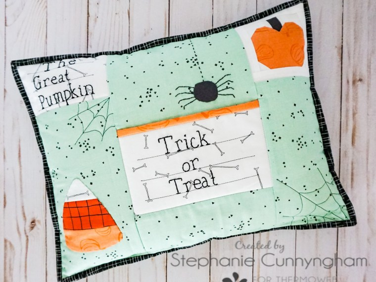 Treat or Treat Applique Pillow