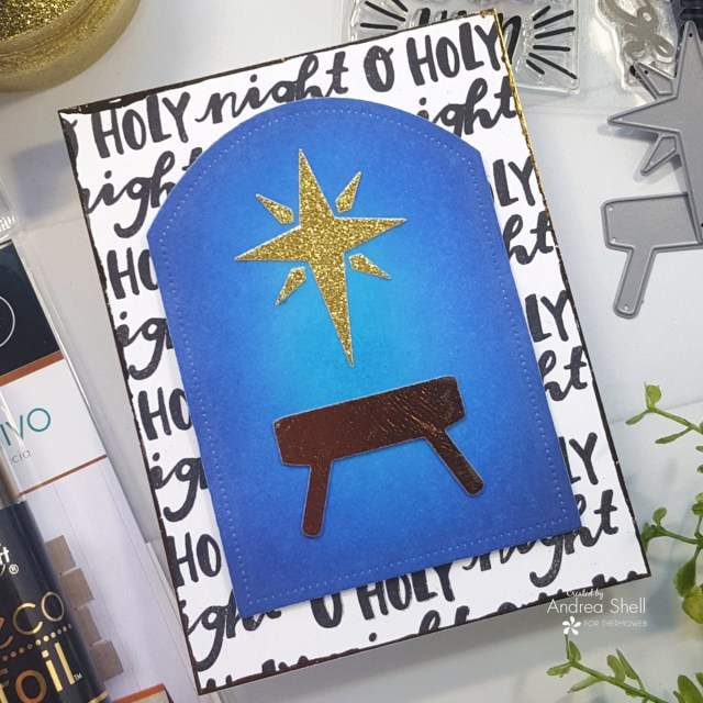 Manger Card by Andrea Shell   The Best Gift of All stamp by Reverse Confetti