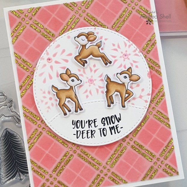 Snow Deer card by Andrea Shell | Snow Deer to Me stamp by LDRS Creative