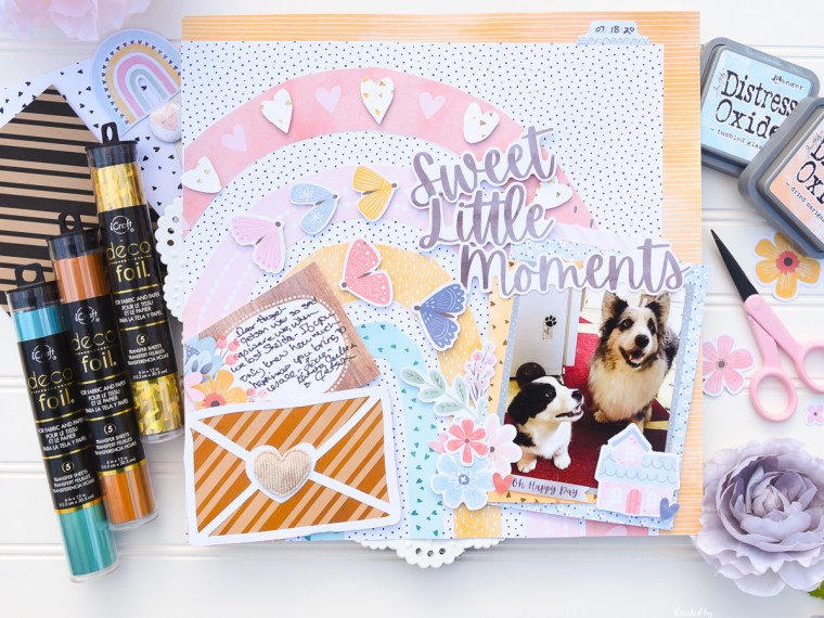 Sweet Moments Scrapbook Layout with Deco foil