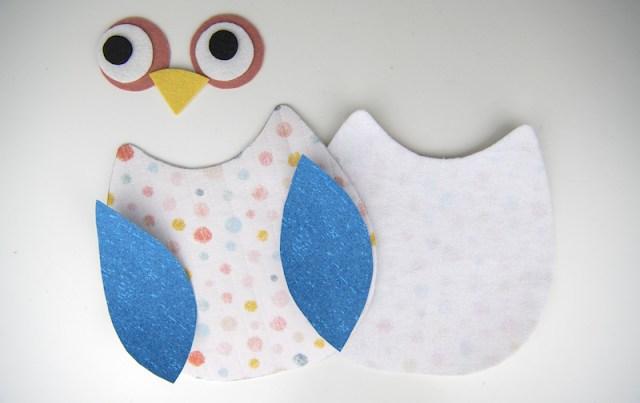 owl softie cut pieces
