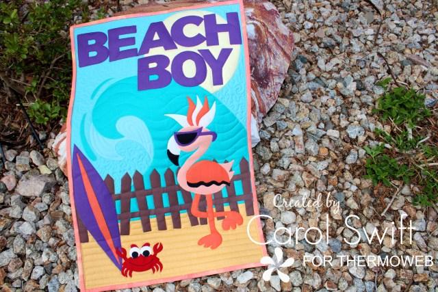 Beach Boy Flamingo Quilt