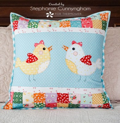 Spring Chick Pillow with HeatnBond