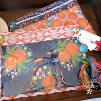 Citrus House Clear Vinyl Pouch Project Bags with Fusible Fleece
