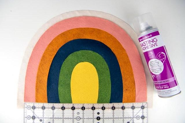 rainbow softie step 3