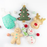 Holiday Felt Ornaments with Benzie Design and Fabric Fuse