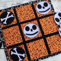 Halloween Fabric Tic Tac Toe Gamewith HeatnBond
