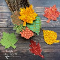 5-Step Fabric Fall Leaves with HeatnBond Fusible Fleece
