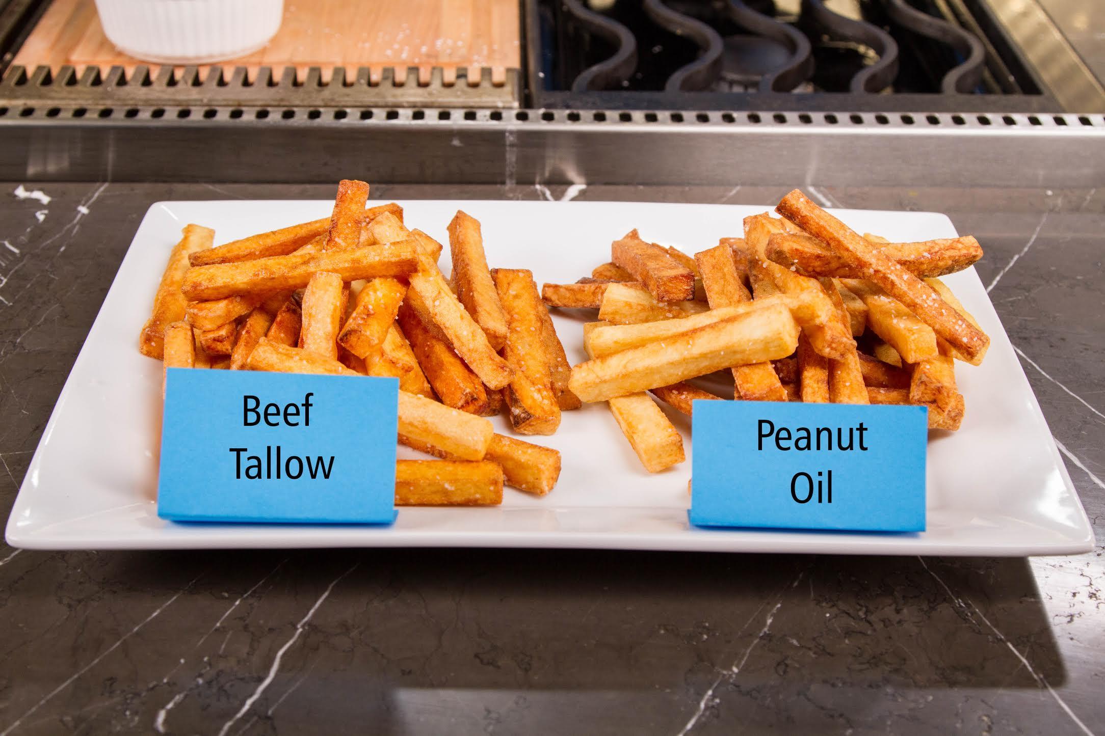 homemade french fries choosing