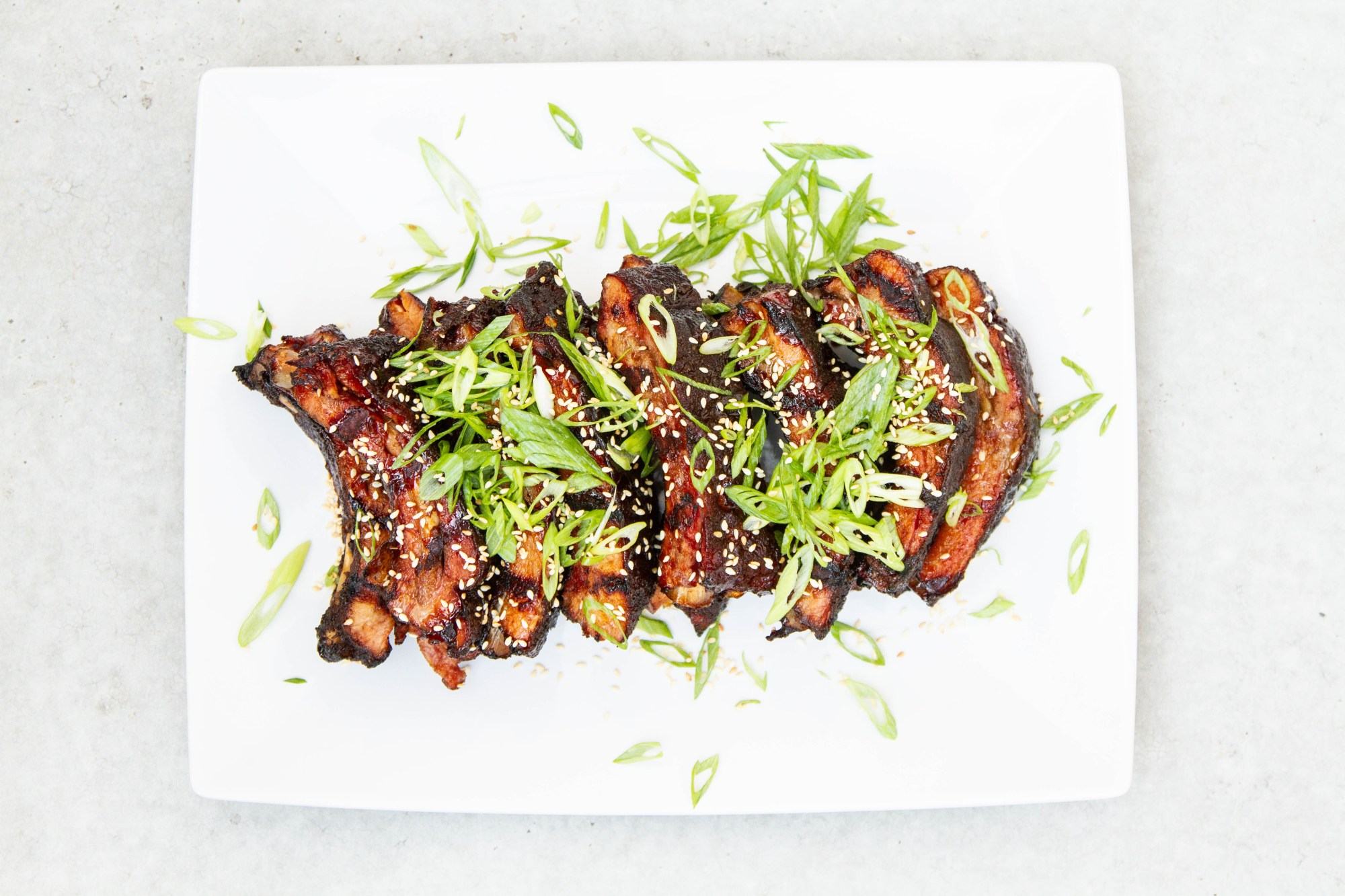 hight resolution of smoked asian style sticky ribs
